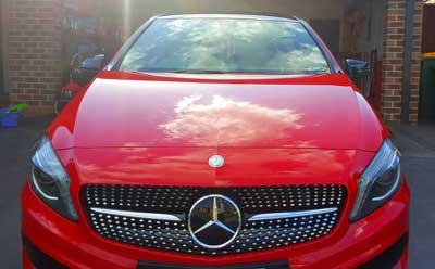Mercedes-Benz A250 ceramic coating paint protection